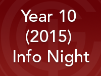 Year 10 (2015) Info Night