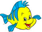 """Picture: Flounder from """"The Little Mermaid"""""""