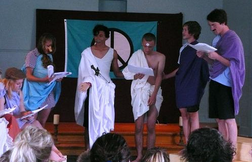 Picture: Yr 10 Ancient Greek Comedy Performance